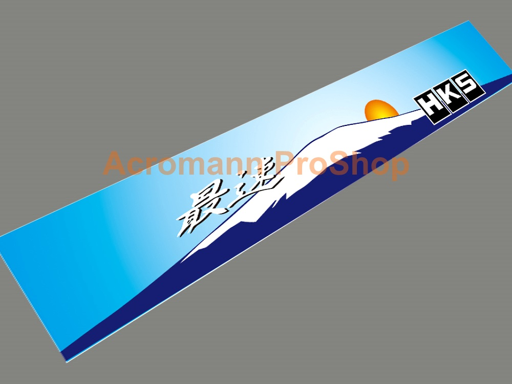 HKS Pursuing Windshield Decal (Style#2)